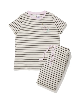 Girls Stripe Long Pj Set