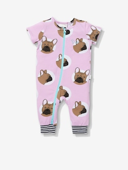 Baby Pink Frenchie Onesie