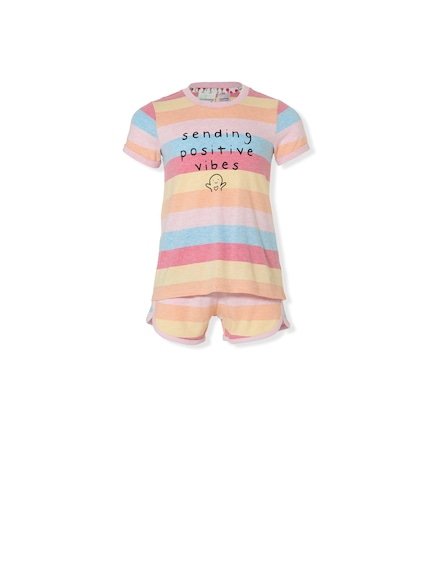 Jnr Girls Positive Vibes Pj Set