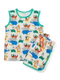 Jnr Kids Stacking Animals Pj Set