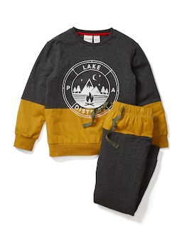 Boys Camping Terry Pj Set