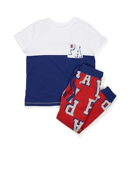 Jnr Boys P.A. Patch Short Sleeve Pj Set