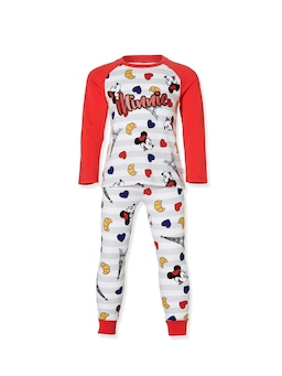 Jnr Girls Paris Minnie Long Pj Set