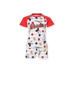Jnr Girls Paris Minnie Short Pj Set