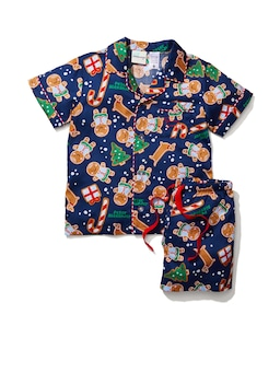 Jnr Kids Gingerbread Pj Set