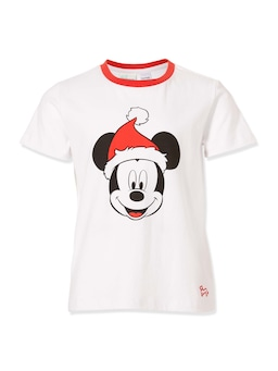 Jnr Kids Christmas Mickey Tee