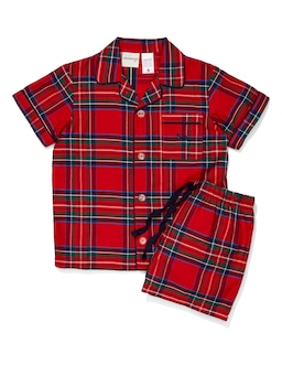 Kids Christmas Tartan Pj Set