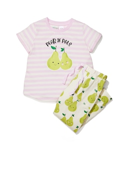 Jnr Girls Pear Of Pals Pj Set