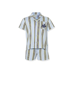 Jnr Boys Yellow Stripe Pj Set