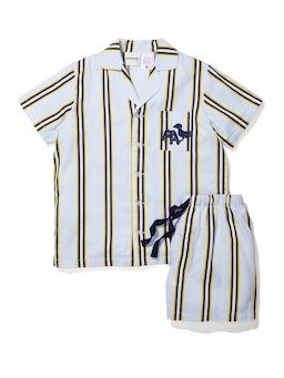 Boys Yellow Stripe Pj Set