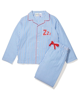 Boys Blue Stripe Long Pj Set