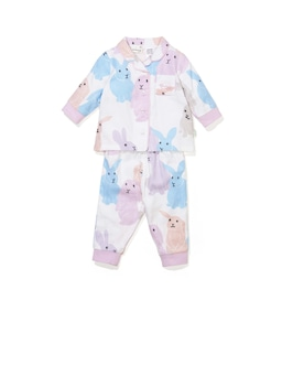 Baby Bunny Bamboo Flannelette Pj Set