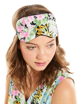 Dark Floral Eye Mask