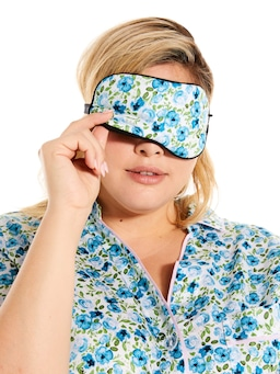 Painted Blue Eye Mask