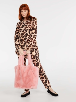 Pink Faux Fur Tote Bag