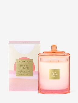 Glasshouse Fragrances Limited Edition Sunrise In Capri Candle 380G