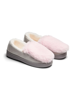 Faux Fur Trim Moccasin