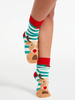 Christmas Moose Unisex Sock