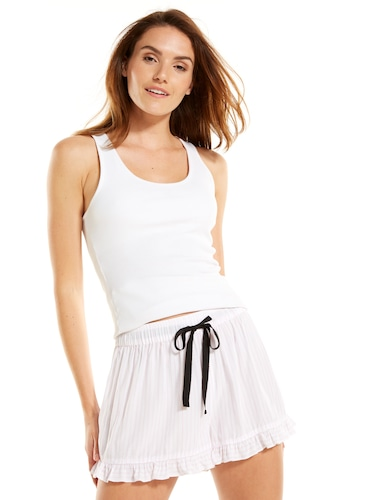 Stripe Frill Edge Short