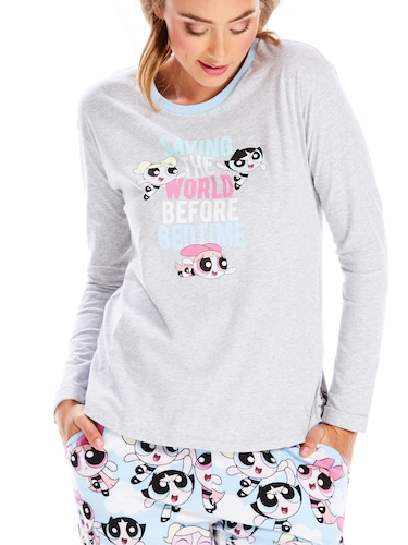 Powerpuff Girls Save The World Long Sleeve Tee