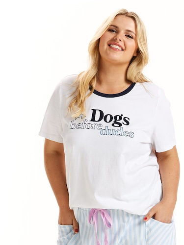 P.A. Plus Dogs Before Dudes Tee