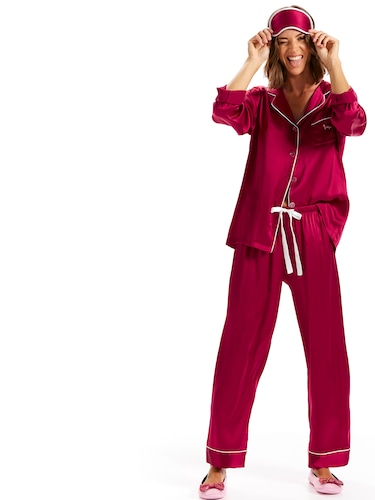 Luxe Silk Pj Set With Eyemask
