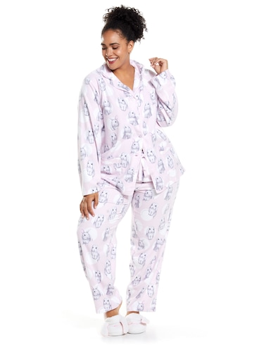 3c4ca9cacf ... P.A. Plus Soft Bunny Long Sleeve Flannelette Pj Set