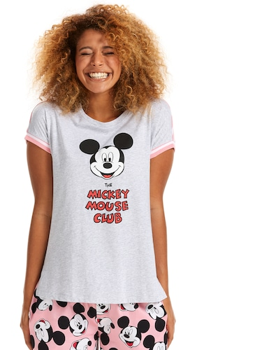 Mickey Mouse Club Stripe Back Tee