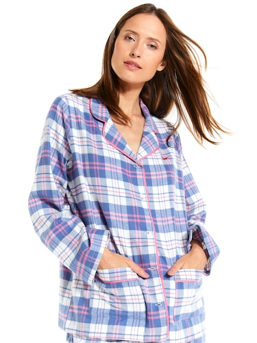 Mothers Day Check Flannelette Pj Set