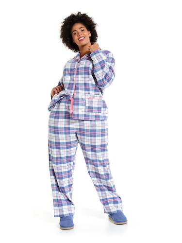 P.A. Plus Mothers Day Check Flannelette Pj Set