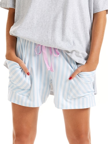 Stripe Pocket Short