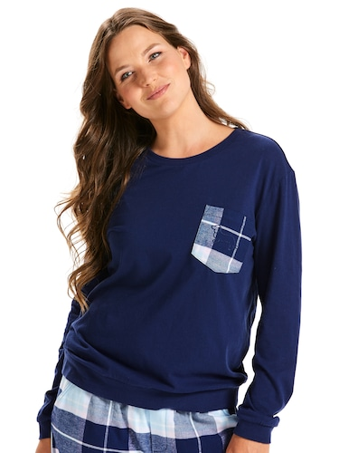 Check Pocket Soft Sweater