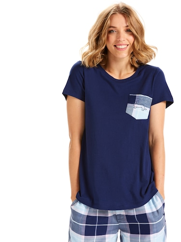 Check Pocket Short Sleeve Tee