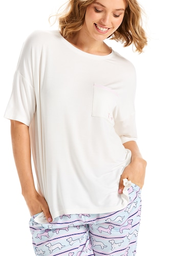 Side Split Drop Shoulder Tee