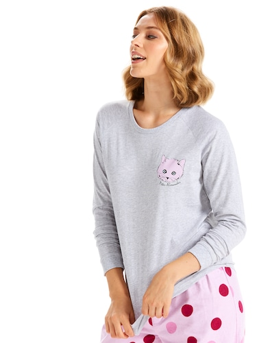 Crazy Cat Long Sleeve Top
