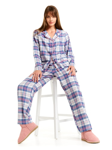 Mothers Day Check Pj Set