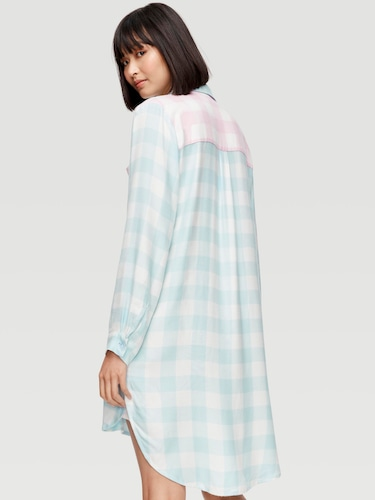 Chambray Check 3/4 Pj Pant