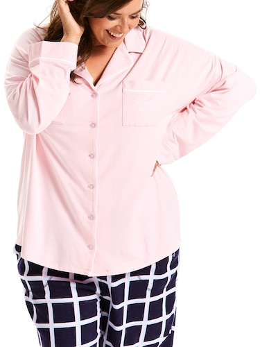 P.A. Plus Plain Jane Pink Knit Shirt