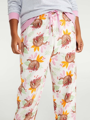 P.A. Plus Floral Burst Classic Pj Set