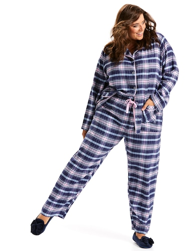 P.A. Plus Tartan You're A Star Flannelette Pj Set