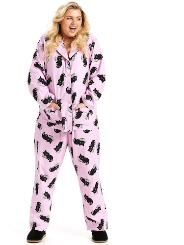 P.A. Plus Kitty Classic Flannelette Pj Set