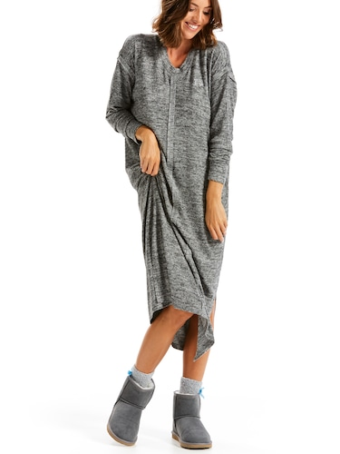 Charcoal Fuzzy Longline Nightie