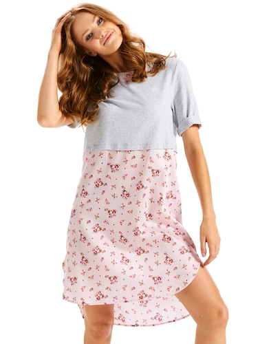Knit Woven Floral Nightie