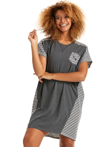 Gingham Back Sleep Tee