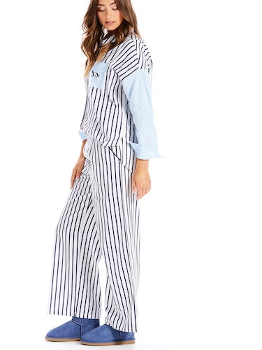 Denim Pinstripe Fashion Pj Pant