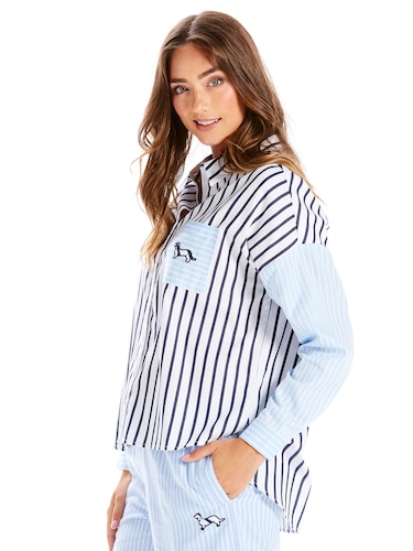Contrast Stripe Shirt