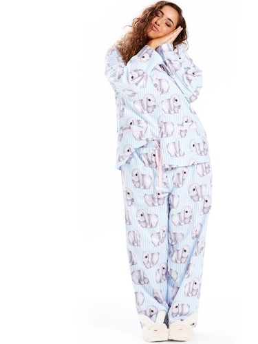 P.A. Plus Bunny Stripe Flannelette Pj Set