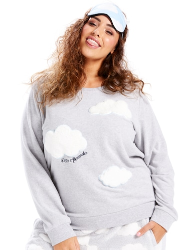 P.A. Plus Cloud Applique Sweater