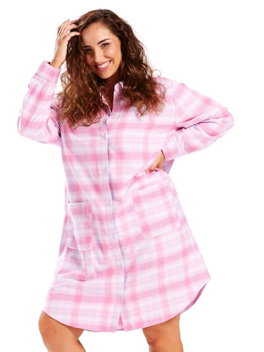P.A. Plus Classic Flannel Nightshirt