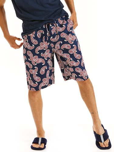 Mens Paisley Sleep Short